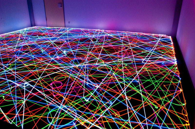 long exposure photos of a roomba s path ryan markel
