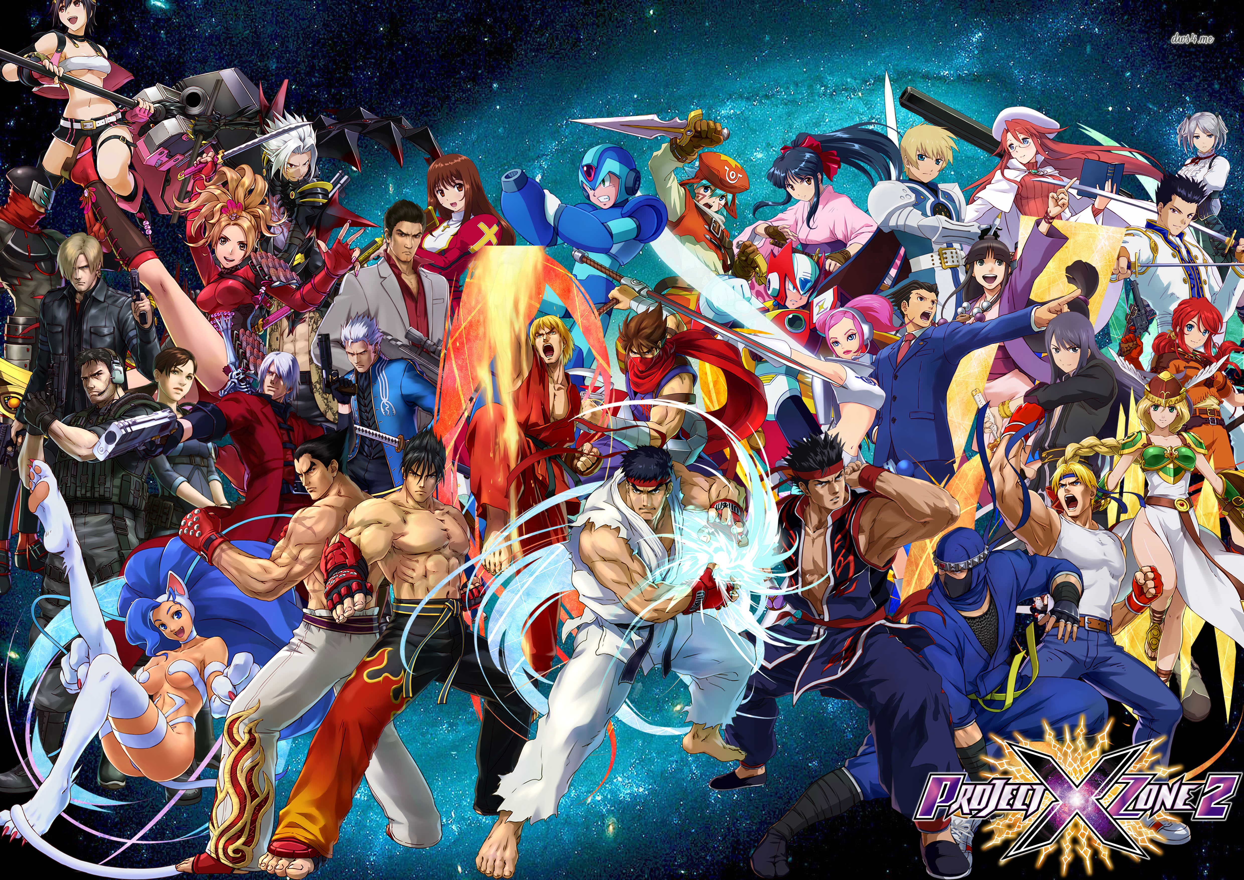 The 58 Playable Characters in Project X Zone 2